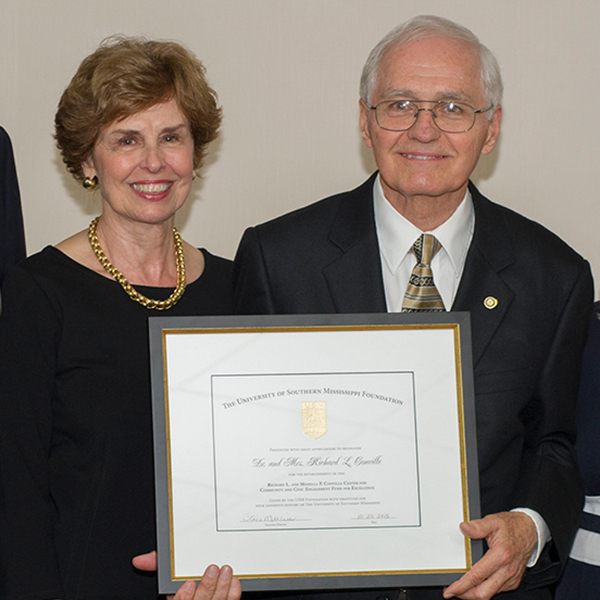 Retired USM Professor, Wife Make Transformational Gift to USM Foundation