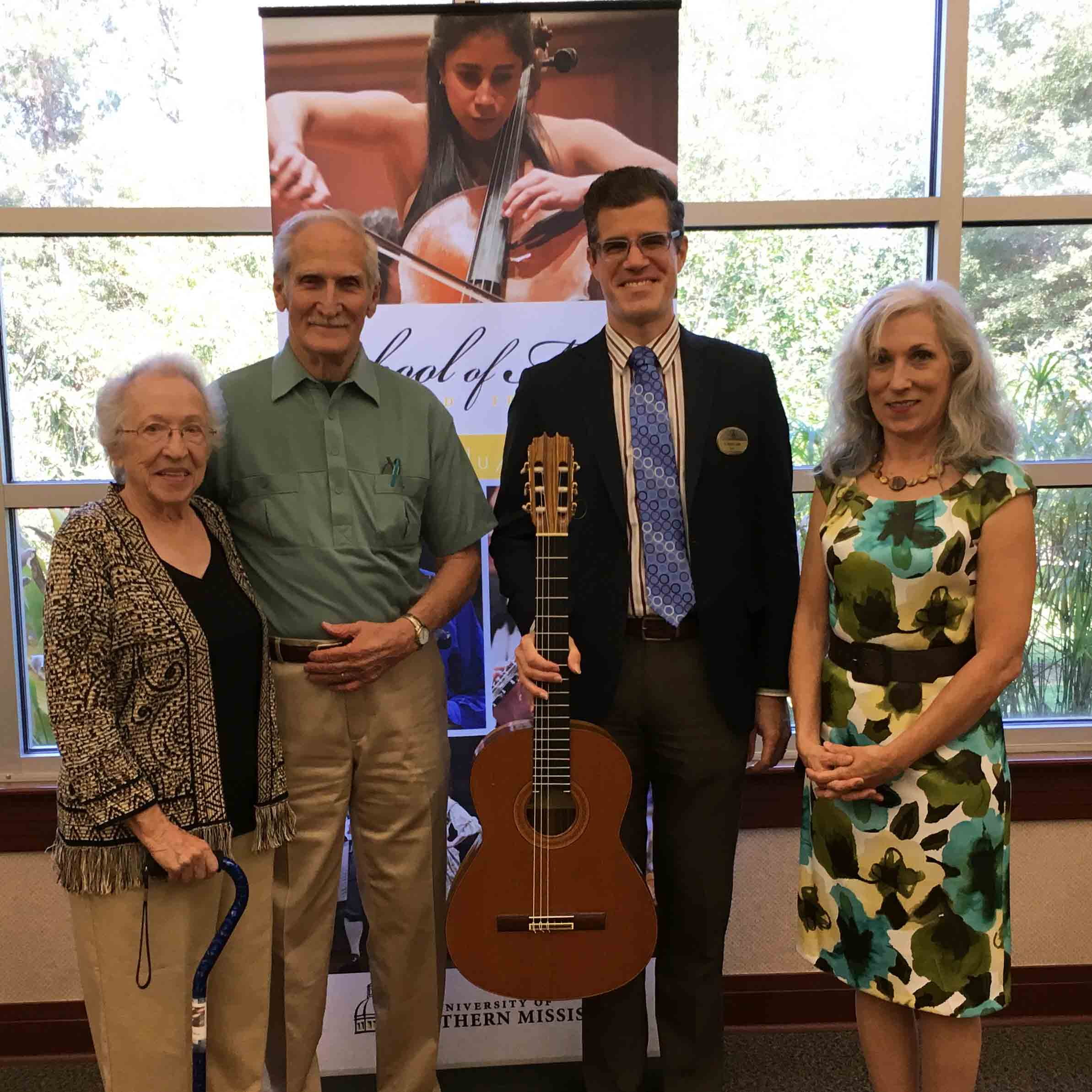 Varnado Donates Treasured Guitar to School of Music to Honor Parents